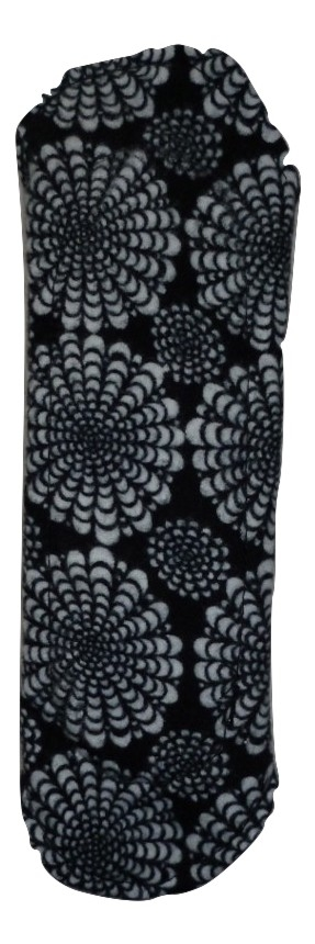 Angelpadz Black Flower Spray Cotton Flannel Regular Pad -PUL