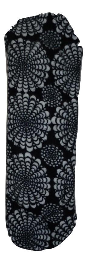 Angelpadz Black Flower Spray Cotton Flannel Regular Pad -PUL