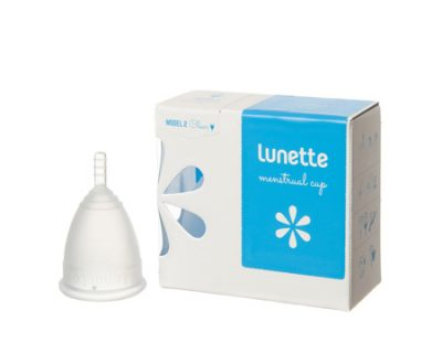 Lunette Clear Menstrual Cup Size 2