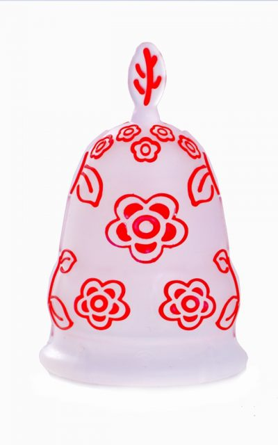 Luv Ur Body Small Red Flower Menstrual Cup