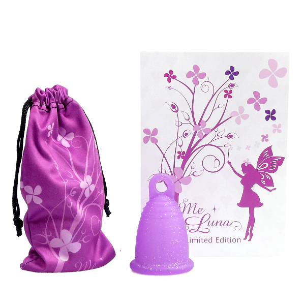 Me Luna Fairy Dust Classic Small Shorty Menstrual Cup -Special Edition