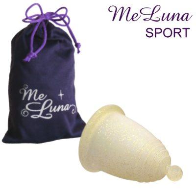 Me Luna XL Gold Glitter Sport Menstrual Cup