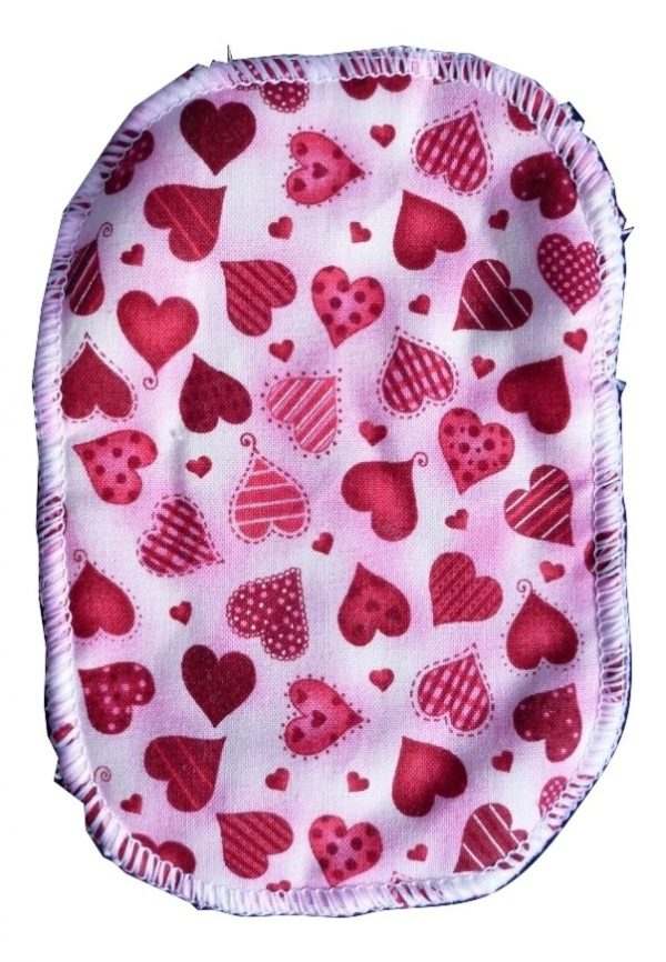 Wee Notions Red Hearts Washable Wipe