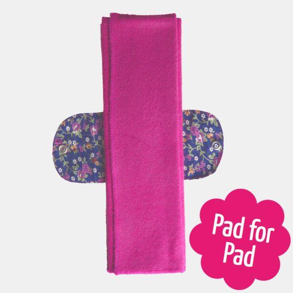 Eco Femme Vibrant 100% Organic Cotton Foldable Pad
