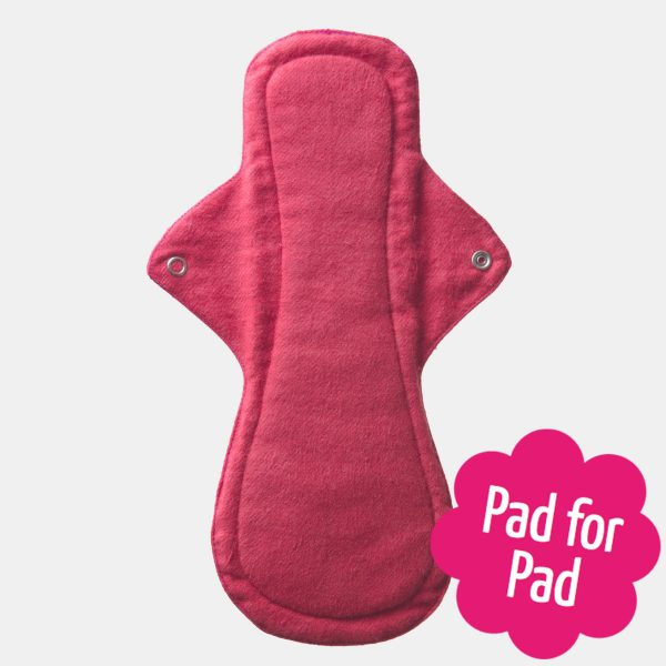 Eco Femme Red Organic Cotton Night Pad