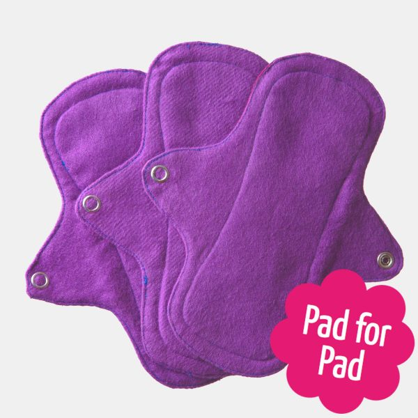 Eco Femme Purple Organic Cotton Pantyliners no PUL (Set of 3)