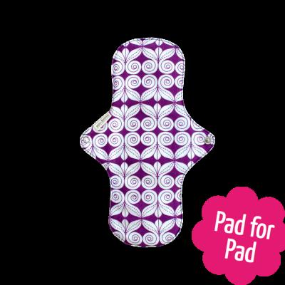 Eco Femme Purple Print 100% Organic Cotton Day Plus Pad