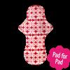 Eco Femme Red Print 100% Organic Cotton Night Pad