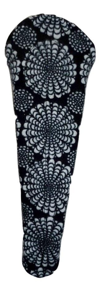 Angelpadz Black Flower Cotton Flannel Thong Liner