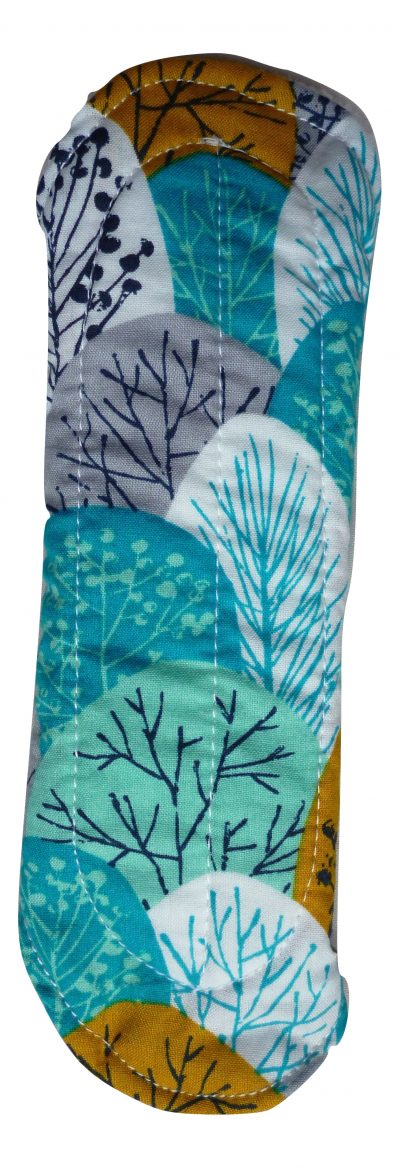 Angelpadz Spring Woodland Turquoise Organic Cotton Regular Pad -PUL