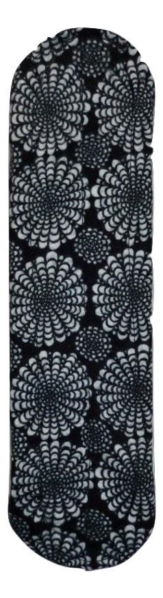 Angelpadz Black Flower Spray Cotton Flannel Medium Pad