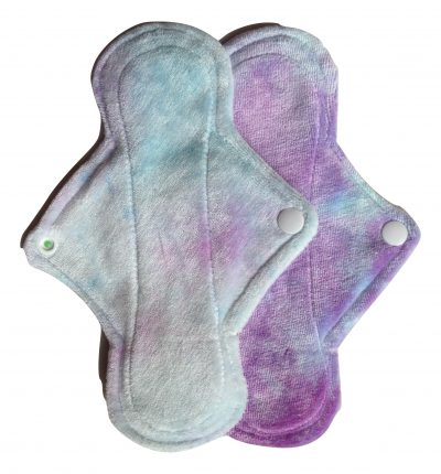 Eco Rainbow Baby Pink/Blue Bamboo Velour 8'' Regular Pad