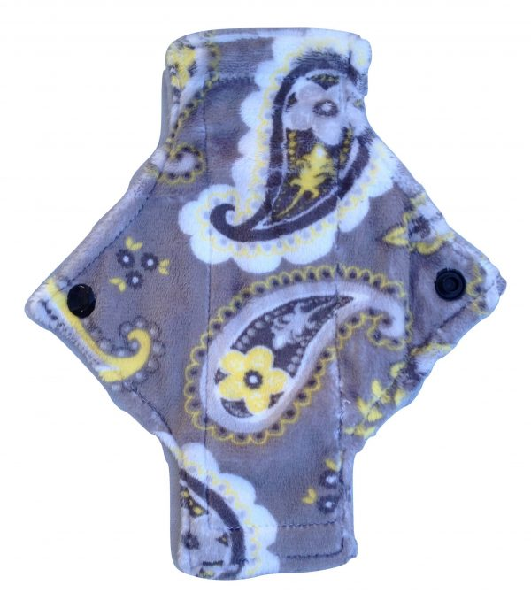 Treehugger Paisley on Grey Plush Pantyliner