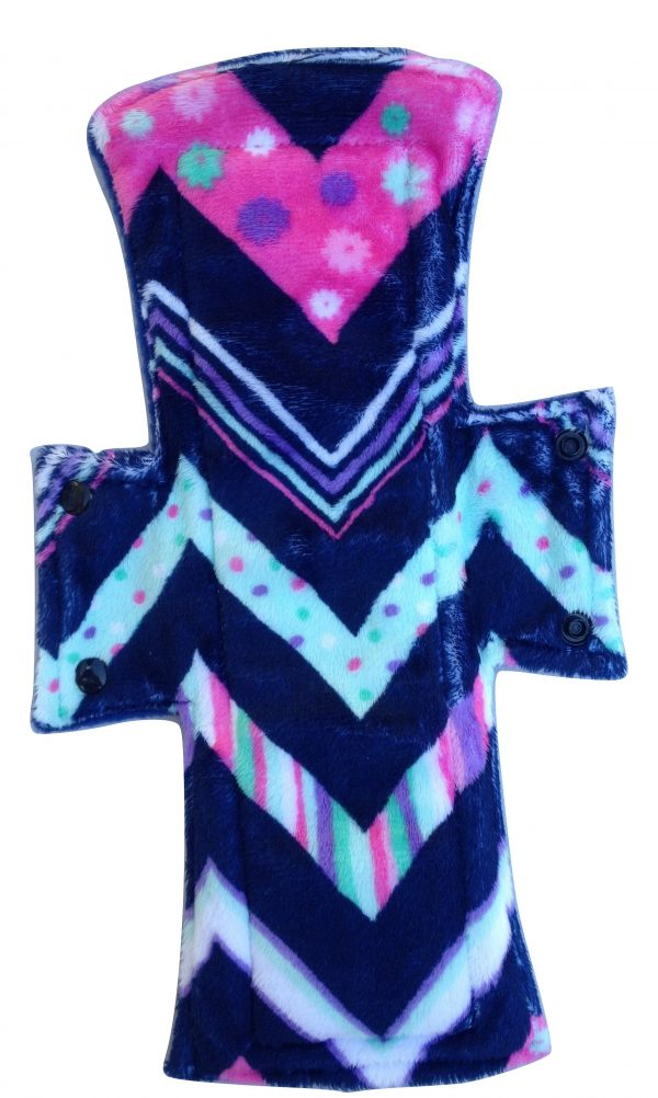 treehugger chevrons plush night postpartum pad