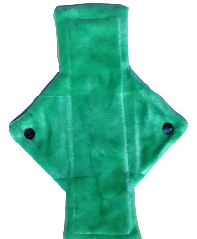 Treehugger Leaf Green Bamboo Velour Light Flow Day Pad No 6