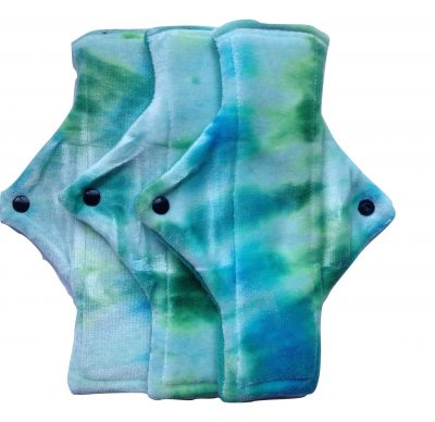 Treehugger Sea Green Ghosts Bamboo Velour Heavy Flow Day Pad