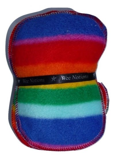 Wee Notions Rainbow Fleece Washable Wipe