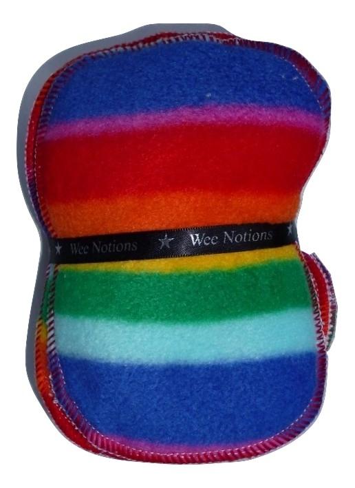 Wee Notions Rainbow Fleece Washable Wipe