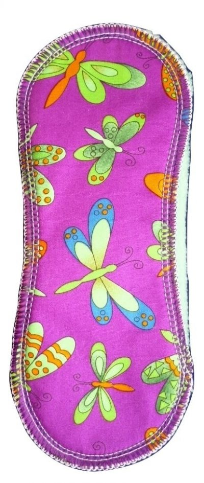 Wee Notions Dragonflies on Purple Cotton Medium PeaPod