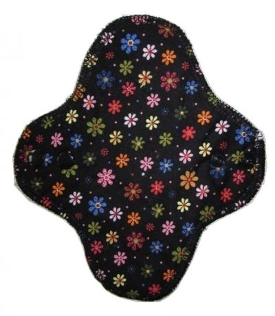 Wee Notions Daisies on Black Cotton Cup/Teen Fairy Hammock - Fleece