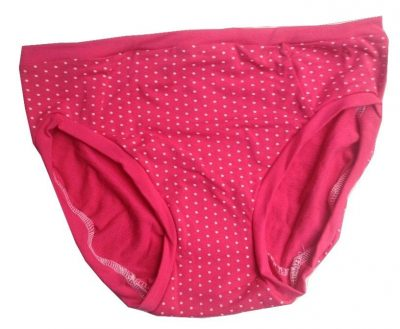 Go With The Flo Pink Dotty Small Diva Panty -NO SNAPS