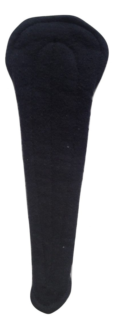 Angelpadz Black Cotton Flannel Thong Liner