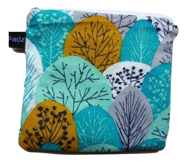 Angelpadz Spring Woodland Turquoise Organic Cotton Pad Purse
