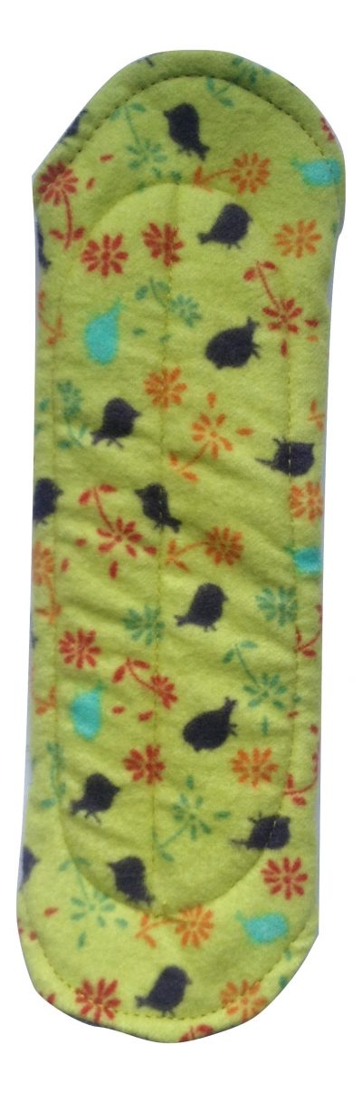 Angelpadz Blueberry Posy Cotton Flannel Regular Pad -PUL