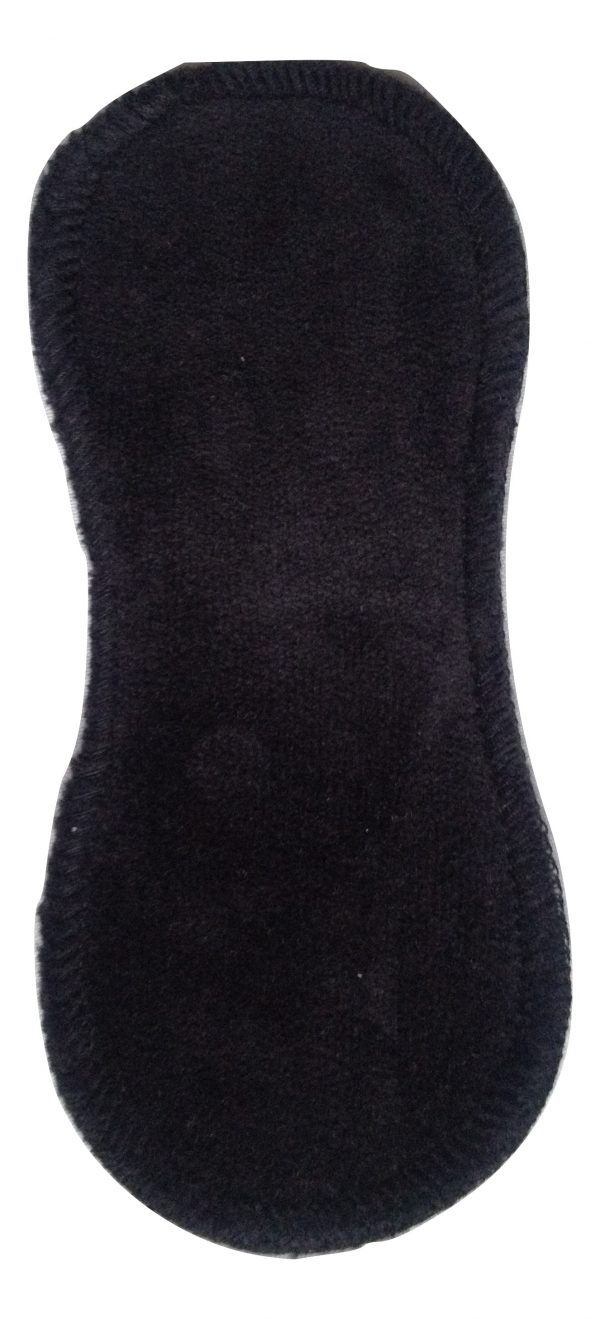 Honour Your Flow Black Organic Cotton Velour Micro Pad - Wool Back