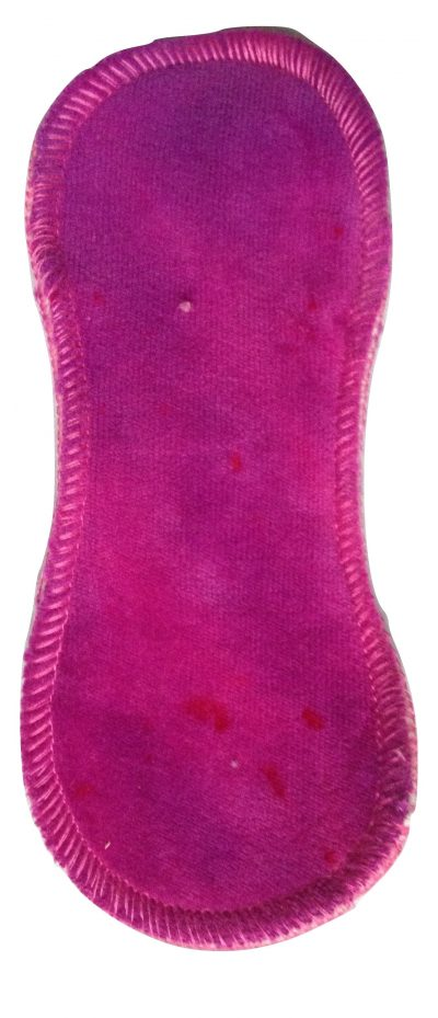 Honour Your Flow Purple Sundae Organic Cotton Velour Micro Pad - Wool Back