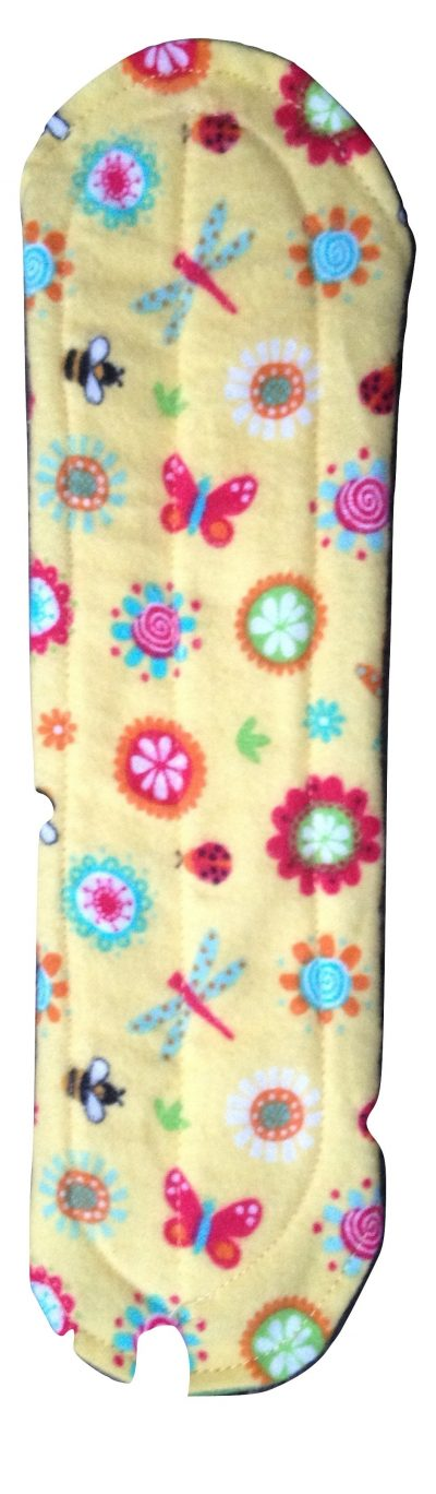 Angelpadz Spring Flowers Cotton Flannel Medium Pad - PUL