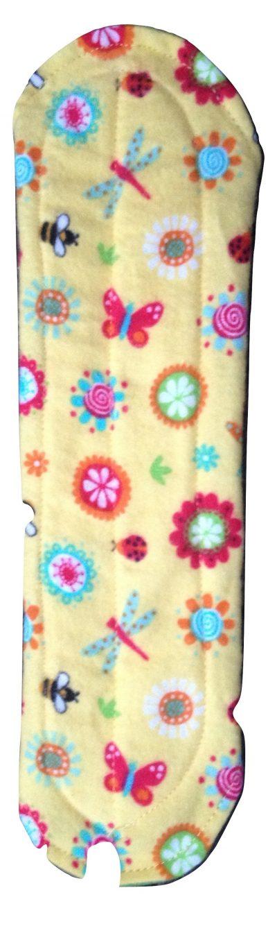 Angelpadz Spring Flowers Cotton Flannel Medium Pad - PUL