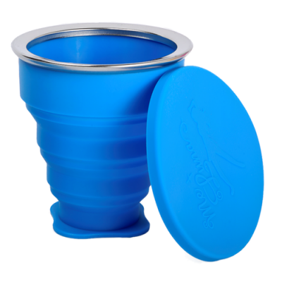 Me Luna Popup Blue Travel Cleaning Cup