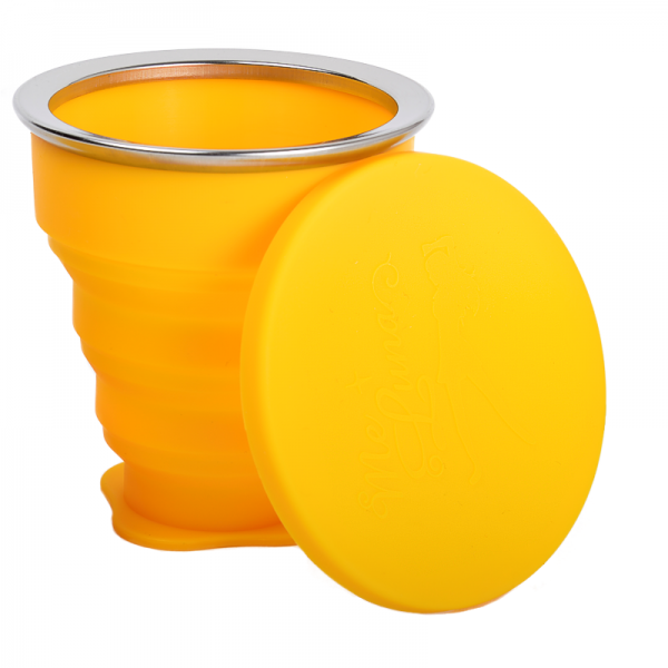 Me Luna Popup Yellow Travel Cleaning Cup