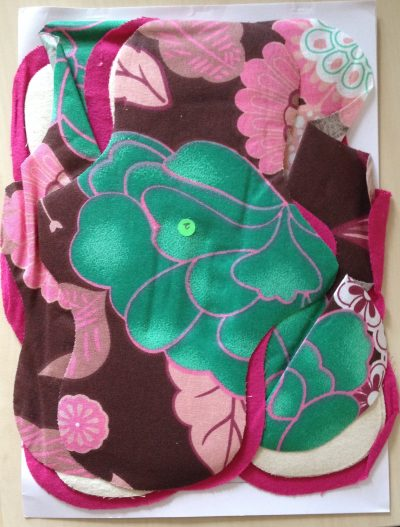Eco Femme Make Your Own Cloth Pad Stitching Kit - Fabric Shown