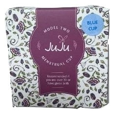 Shows JuJu Menstrual cup box