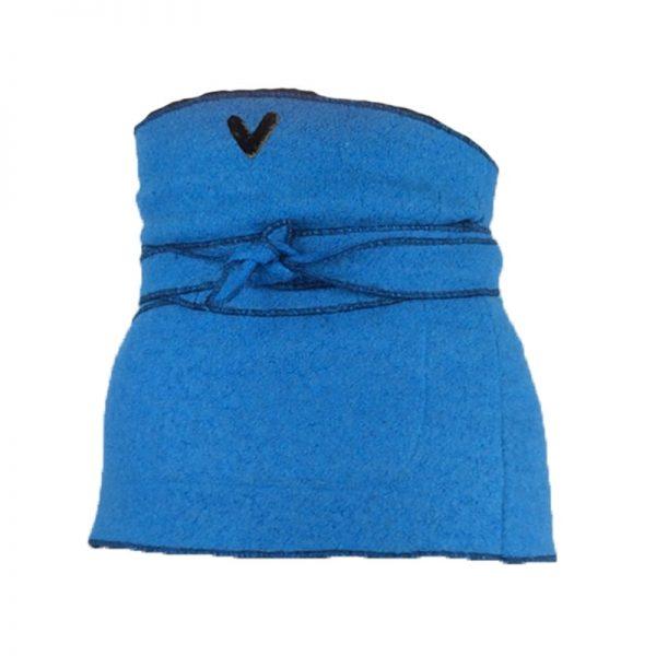 Back of Blue Wool Belly Blanket